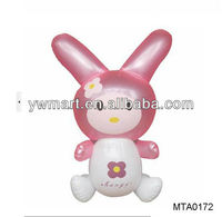 Inflatable plastic PVC little cute rabbit toys animal