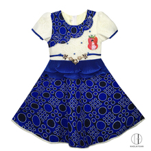 693-2 Bule Haolaiyuan Good quality sell well designer kids party wear baby girl dress patterns
