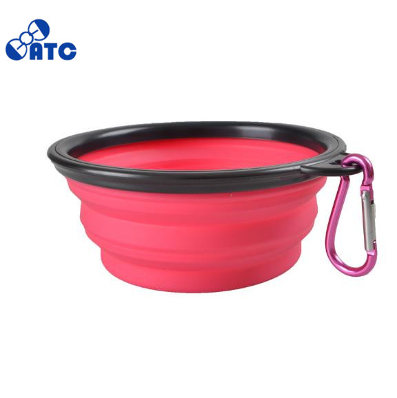 Silicon slow feeder dog bowl/Outdoor Silicone Foldable Dog Bowl/pet bowl