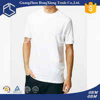 100% cotton high quality blank o-neck short sleeve mens white t-shirt