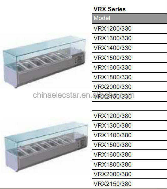sandwich counter, stainless steel refrigeration counter , restaurant kitchen equipment