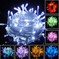 IP66/IP44 outdoor multi-color multifunction string lights programmable led christmas lights