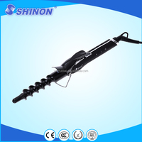 Nice spiral curling iron spiral curl human hair weaving lcd