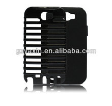 Plastic +silicon combo hybrid case for samsung galaxy note 2 n7100,shockproof case for samsung galaxy note 2