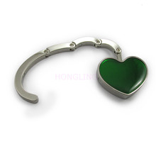Hot sale custom logo heart shape magnetic bag hanger purse holder