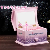 2015 new product sweet house shape handmade music box digital made in china