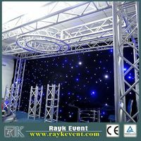 New products Christmas lights led cloth lighting rgb led sky star curtain / stage background cloth / led cloth