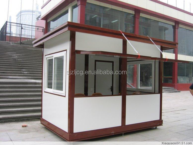 2015 Made in china prefabricated kiosk manufacturer coffee shop kiosk designs food kiosk for sale