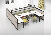 L6+L3 +D32 factory directly sell thick and thin combination modern modular green mater customized four people office workstation