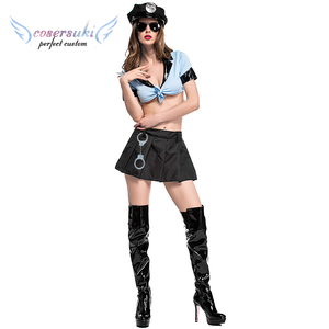Policewoman sexy suit police split uniform suit Nightclub DS clothing cosplay costume Halloween game