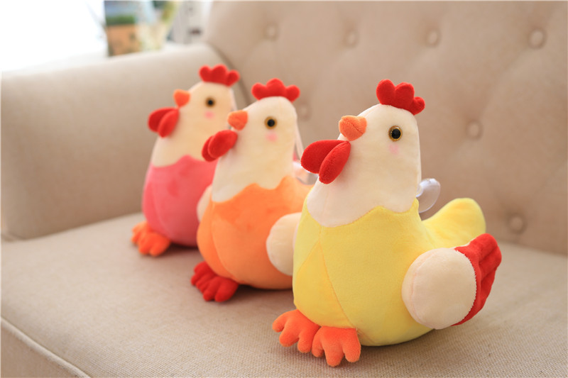 high quality promotion chicken plush toy squeaky chicken toy