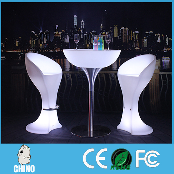 High quality Light Up Furniture Outdoor Bar Counter interactive led table