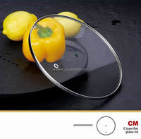 14 inch tempered glass non-stick Aluminum frying pan lid
