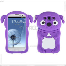 Animal case Dog Shape 3D Lovely Cartoon Silicone Case Cover for Samsung Galaxy S3 /i9300 P-SAMI9300SC006 sales 007