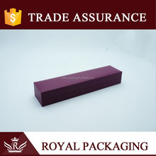 New Elegant Long size purple gift box for necklace ink pen and jewelry packaging