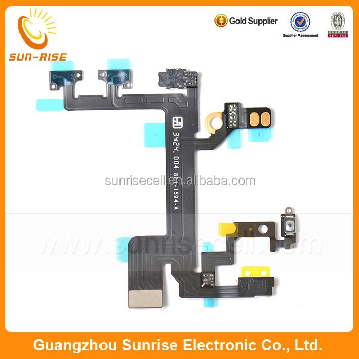 Original For Iphone 5S Power Flex Cable,For iPhone 5s On Off Flex Cable