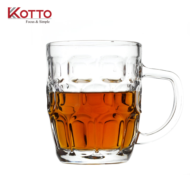 Hot selling tankard beer mug dimpled pint glass for gift promotion /Lead-free pineapple beer glass