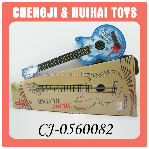Electronic plastic musical toy replica guitar