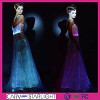 fiber optic luminous design dubai elegant red long evening dresses