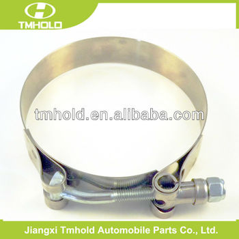 19mm bandwidth steel turbo t-bolts iron metal hose clamps