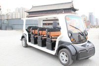 11 seat Electric Shuttle Bus used as sightseeing vehicle Electric shuttle bus