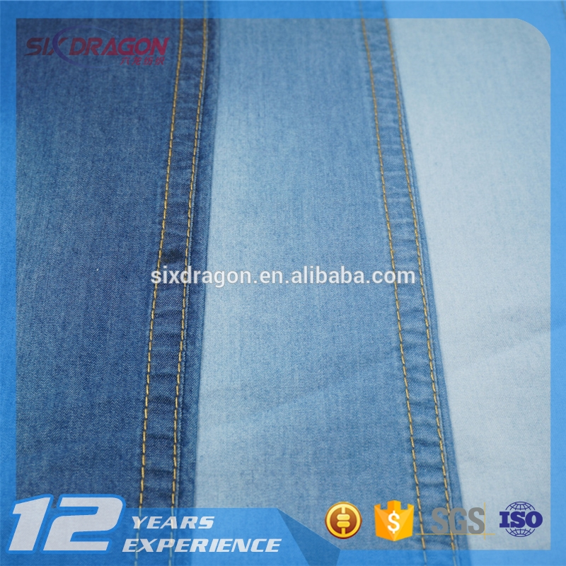 light weight 100% Cotton 2/1 twill denim fabric for jacket pants and jeans