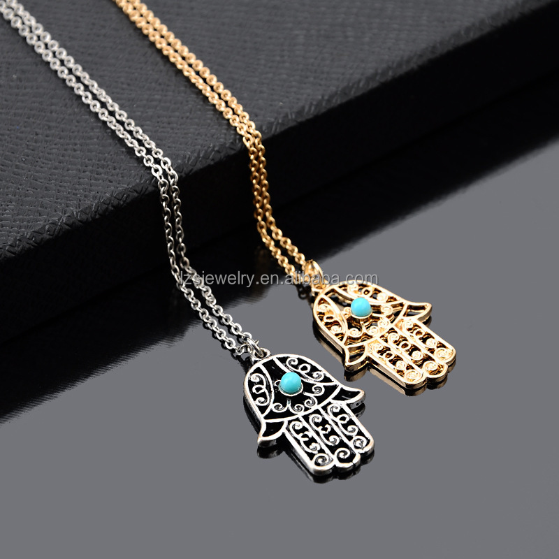 Hamsa Design Evil Eyes Choker Necklace Fashion Necklace Gold Plated Necklace