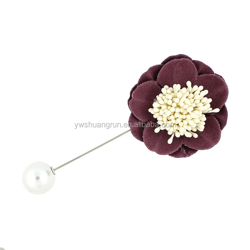 Women Flower Lapel Brooches Lapel Pin For Wedding Handmade Suits Shirt Brooch