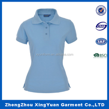 custom logo Unique embroider polyester women polo t-shirt quick dry