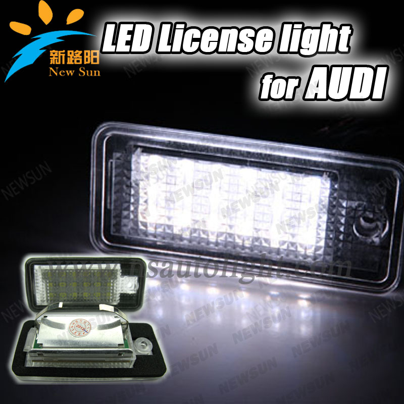 6000K High Bright 18SMD LED License Plate Lamp for Audi A3 A4 A6 S3 S6 C6 Q7 RS4 RS6 number plate light with quality warranty