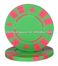 12g Customize KAQ Engraved Suited Poker Chip