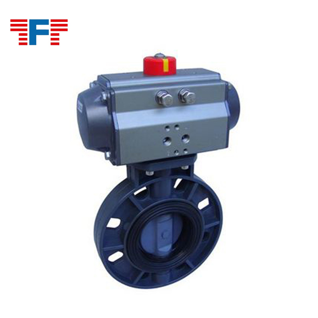 Electric motorized adjustable air control plastic operated butterfly valve