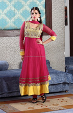 Decked up Duo Anarkali Designer Chudider Salwar Suit