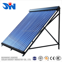 Direct flow vacuum tube solar collector