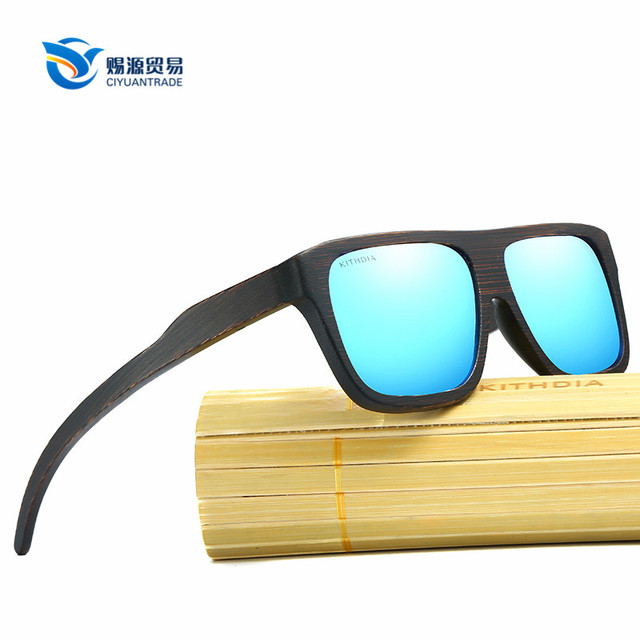 Cheap promotion bamboo wood frame round ladies folding sunglasses
