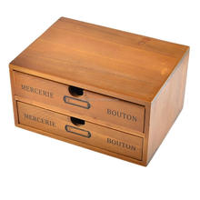 Custom TOP grade 2 drawer fancy wood office stationery desk organizer