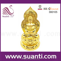 Various Polyresin Religious Statues with Golden Color and Factory Price from Shenzhen GuangDong Manufacturer