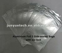 Aluminum foil 3 side-sealed bags with ziplock