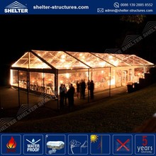 use many times permanent /temporary glass marquee/party tent Guangzhou for sale Shelter manufacturer