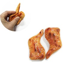 Customized Squishy Food Toy fake chicken wing 3D fridge magnet