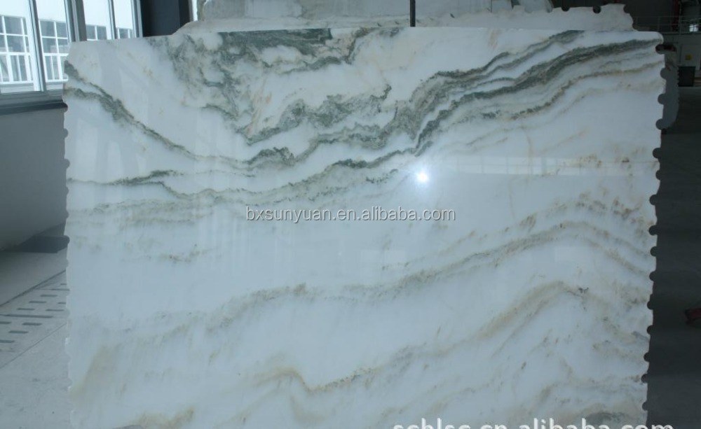 Indonesia marble waterjet marble tiles design floor pattern big slab white marble