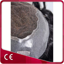 Swiss Lace Inside Pu Around Side Toupee For Men