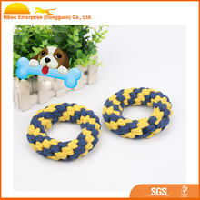 Factory direct sales cotton rope pet toys multi-color for the election donut weaving pet cats and dogs toys
