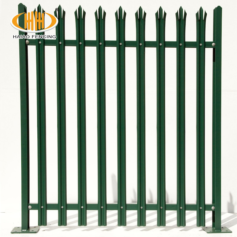 Europe market heavy duty W and D type palisade fence and palisade fencing, security galvanized steel palisade fencing design