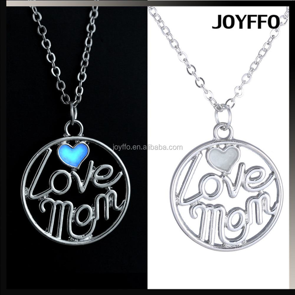 3YH-021 Mother's Day Gift Hollow love Mom Luminous Necklace Pendant