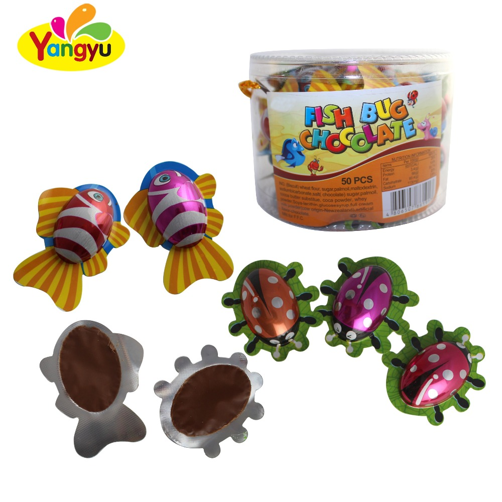 Latest model cute delicious sweet goldfish shape chocolate