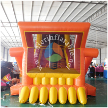 New design outdoor bulldozer inflatable dry slide for kids