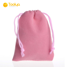 customize wholesale velvet suede small drawstring bag gift jewelry pouch travel organizer packing bag