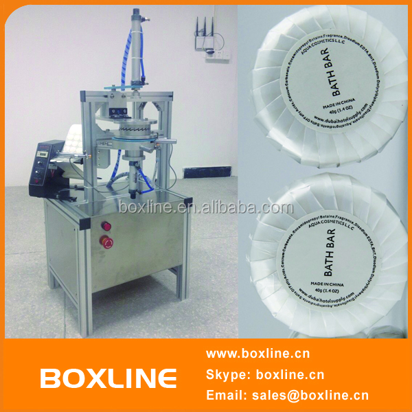 Industrial Mini Semi-automatic Round Soap Pleated Packing Machine