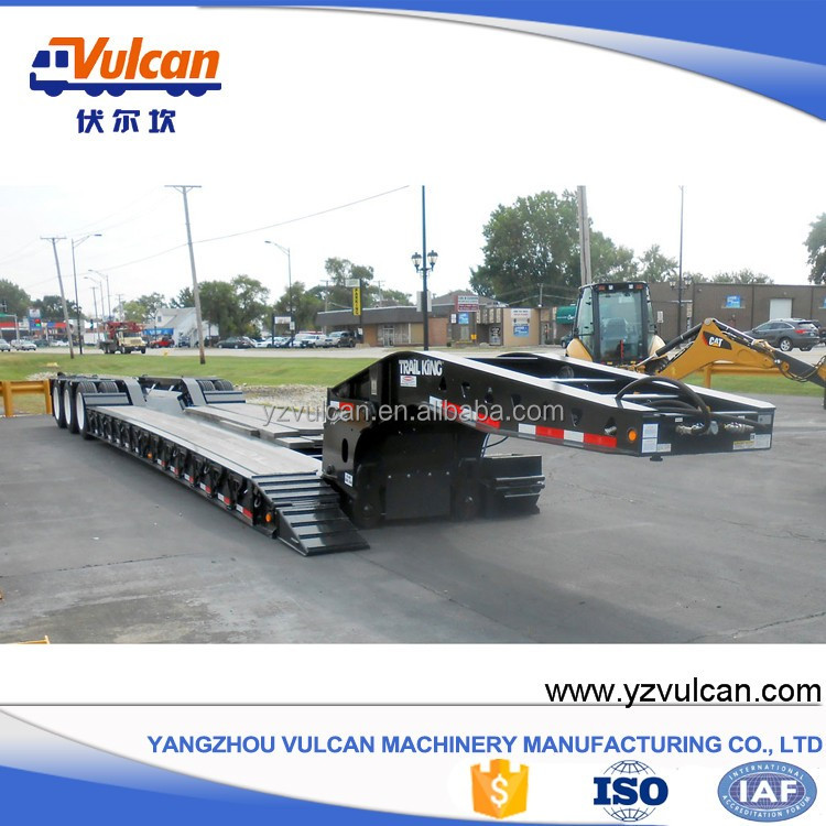 Factory new 40 ton gooseneck low bed truck trailer for sale